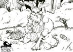 2016 anal_beads anthro black_and_white black_sclera breasts canine chest_tuft digimon dildo easter egg female forest fox holidays looking_at_viewer mammal monochrome nude renamon s-nina sex_toy solo tree tuft  Rating: Explicit Score: 18 User: Arkham_Horror Date: March 28, 2016