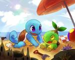 beach haychel nintendo outside pokémon sand sand_castle sculpture seaside shovel squirtle sun turtwig video_games   Rating: Safe  Score: 0  User: slyroon  Date: March 10, 2014