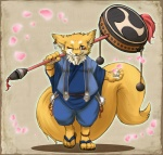 2010 anthro canine chubby clothing digital_media_(artwork) drum fox japanese japanese_clothing male mammal musical_instrument overweight risuou solo taiko_drum weapon  Rating: Safe Score: 3 User: underwolf Date: June 13, 2010