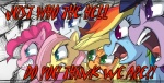 ! ? applejack_(mlp) blonde_hair blue_eyes cowboy_hat earth_pony english_text equine female feral fluttershy_(mlp) freckles friendship_is_magic fur green_eyes group hair hat horn horse mammal multicolored_hair my_little_pony open_mouth pegasus pink_hair pinkie_pie_(mlp) pony princess princess_celestia_(mlp) purple_eyes purple_fur purple_hair rainbow_dash_(mlp) rainbow_hair rarity_(mlp) reaction_image royalty tengen_toppa_gurren_lagann text tongue twilight_sparkle_(mlp) uc77 unicorn wings  Rating: Safe Score: 15 User: anthroking Date: April 19, 2013