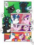 black_eyes black_skin blonde_hair blue_eyes blue_hair changeling comic crown english_text equine female feral friendship_is_magic fur green_eyes group hair horn horse humor male mammal multicolored_hair my_little_pony pink_fur pink_hair pony princess_cadance_(mlp) purple_eyes purple_fur purple_hair queen_chrysalis_(mlp) shining_armor_(mlp) smile speech_bubble tailzkip teeth text twilight_sparkle_(mlp) unicorn white_fur winged_unicorn wings   Rating: Safe  Score: 6  User: GameManiac  Date: March 02, 2015