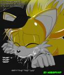 anthro black_penis canine cum cum_in_mouth cum_inside duo english_text eyes_closed fellatio forced forced_oral fox male male/male mammal miles_prower nobody147 oral penis sega sex sonic_(series) text   Rating: Explicit  Score: 9  User: Mr147  Date: September 15, 2014