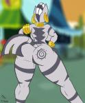 2016 absurd_res anthro anthrofied big_butt bracelet breasts butt cutie_mark equine female friendship_is_magic hands_on_hips hi_res jewelry jrvanesbroek kaiuchiha15 mammal my_little_pony neck_rings piercing pussy rear_view solo standing zebra zecora_(mlp)  Rating: Explicit Score: 16 User: 2DUK Date: May 01, 2016