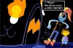 blue_skin brown_hair child clothing crying dialogue duo english_text eye_patch eyewear fire fish frist44 hair house humor marine monster open_mouth parody pink_hair protagonist_(undertale) size_difference spongebob_squarepants tears text undertale undyne yellow_skin young  Rating: Safe Score: 11 User: ROTHY Date: October 06, 2015