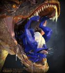 2014 3d_(artwork) abdominal_bulge all_the_way_through ambiguous_gender anal anal_penetration animal_genitalia anthro anus blue_scales cgi claws cum deep_rimming digital_media_(artwork) dragon dripping drooling duo erection extreme_penetration feral firondraak gaping gaping_anus hi_res horn huge_penetration large_penetration leaking lizard male nude open_mouth oral oral_vore orgasm penetration penis reptile rimming salireths saliva scales scalie sex sharp_teeth simple_background size_difference smaller_male smaug soft_vore stretching teeth the_hobbit tongue tongue_out vore yellow_eyes  Rating: Explicit Score: 7 User: zergrush Date: January 28, 2016