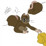 <3 <3_eyes anthro big_breasts big_butt breasts brown_fur butt cheese cleavage clothed clothing eyelashes female food fur huge_butt mammal mouse rodent stuck stuck_in_wall unknown_artistRating: QuestionableScore: 6User: ROTHYDate: July 18, 2017