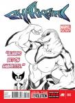 anthro big_breasts breasts chochi claws cleavage clothed clothing duo english_text female fish flexing human looking_at_viewer male mammal marine marvel muscles muscular_female parody shark shark-girl_(marvel) smile text wolverine_(marvel) x-men zipper  Rating: Safe Score: 6 User: ROTHY Date: July 02, 2015
