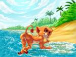 anthro anthrofied anus barefoot beach butt digital_media_(artwork) disney feline female grin lion looking_at_viewer mammal naughty_face nude outside presenting presenting_hindquarters pussy pussy_juice raised_tail seaside solo the_lion_king vitani water young zooshi  Rating: Explicit Score: 5 User: Circeus Date: September 10, 2015