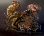 cthulhu_mythos d3monstar egg eldritch_horror female feral h.p._lovecraft monster nightmare_fuel nyarlathotep_(cthulhu) penis_creature simple_background slime solo tentacle_monster tentacles what what_has_science_done