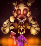 animatronic axe five_nights_at_freddy's five_nights_at_freddy's_3 glowing glowing_eyes human machine male mammal mechanical purple_man_(fnaf) robot springtrap_(fnaf) toy-bonnie video_games weapon   Rating: Safe  Score: 0  User: Vallizo  Date: April 26, 2015