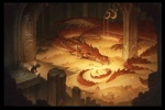 2013 bilbo_baggins claws dragon gold hi_res hobbit horn jewelry justin_gerard lying male pillar scalie sleeping smaug smoke smoke_whisps stairs treasure watching wings   Rating: Safe  Score: 19  User: Linnefer  Date: July 06, 2013