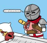 armor baby bed blue_background couple crown cute daughter english_text eyes_closed female ficficponyfic group happy helmet human knight male mammal melee_weapon pillow princess royalty simple_background sleeping sword sword_princess text towergirls weapon young  Rating: Safe Score: 5 User: ROTHY Date: March 24, 2015
