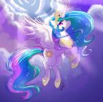 2015 cloud crown cutie_mark equine female feral flying friendship_is_magic hair horn long_hair mammal multicolored_hair my_little_pony outside princess_celestia_(mlp) sky solo whitephox winged_unicorn wings   Rating: Safe  Score: 4  User: Egekilde  Date: May 29, 2015