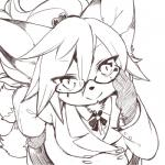 canine eyewear female fox glasses hair kemono kishibe long_hair looking_at_viewer mammal outfit   Rating: Safe  Score: 6  User: KemonoLover96  Date: May 05, 2015