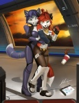 anthro blue_fur canine falling_cup female fox fur jecbrush krystal mammal nintendo nora_vulpes_leslie star_fox tickling video_games white_fur window  Rating: Safe Score: 22 User: Munkelzahn Date: September 24, 2012""
