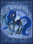 2014 armor blue_eyes blue_fur blue_hair clothed clothing crown cutie_mark digital_media_(artwork) equine female feral friendship_is_magic fur hair hi_res horn horse long_hair magic mammal my_little_pony open_mouth pony princess_luna_(mlp) raised_leg raptor007 scythe solo weapon winged_unicorn wings   Rating: Safe  Score: 4  User: GameManiac  Date: March 25, 2015