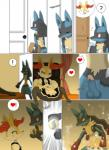 ! <3 ? bed blanket braixen canine door erection evolution eyes_closed fox fur lucario mammal mega_evolution mega_lucario nintendo penis pillow pokémon red_eyes spikes video_games winick-lim  Rating: Explicit Score: 11 User: Black_Light Date: April 30, 2015