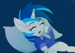 2013 blue_hair clothing equine eyes_closed female friendship_is_magic hair horn mammal multicolored_hair my_little_pony pillow raikoh-illust shirt solo tired two_tone_hair unicorn vinyl_scratch_(mlp)  Rating: Safe Score: 7 User: 2DUK Date: July 23, 2013