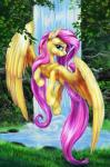 2014 blue_eyes bush equine female fluttershy_(mlp) flying foliage friendship_is_magic grass hair lake looking_at_viewer mammal my_little_pony outside pegasus pink_hair rock solo tree viwrastupr water waterfall wings   Rating: Safe  Score: 10  User: 2DUK  Date: April 17, 2014