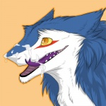 anthro blue_fur bust_portrait cum cum_on_face cum_on_muzzle forked_tongue fur low_res male mammal markus_(dowantanaccount) messy open_mouth orange_background orgasm portrait purple_tongue red_mark sergal sidgi simple_background smile solo tongue white_fur yellow_eyesRating: ExplicitScore: 48User: MrksDate: February 01, 2011