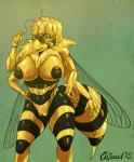 2015 abdomen antennae anthro arthropod bee big_breasts blonde_hair breasts chirasul clitoris eyelashes female hair hands_on_hips insect inverted_nipples looking_at_viewer multi_limb multiple_arms nipples nude pussy solo stinger wide_hips wings yellow_eyes yellow_sclera  Rating: Explicit Score: 9 User: chdgs Date: July 18, 2015