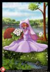 azaleesh canine clothed clothing disney female flower fox invalid_tag maid_marian mammal plant robin_hood_(disney)