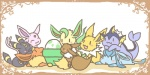 eevee eeveelution espeon feral flareon glaceon group jolteon leafeon nintendo pokémon umbreon vaporeon video_games  Rating: Safe Score: 3 User: tengger Date: March 28, 2015""