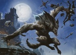 ambiguous_gender anthro canine castle full_moon magic_the_gathering mammal melee_weapon moon night official_art outside polearm siege_engine solo spear wayne_reynolds weapon were werewolf wizards_of_the_coast  Rating: Safe Score: 7 User: Shardshatter Date: August 12, 2013
