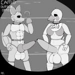 animatronic anthro avian balls canine chica_(fnaf) dickgirl duo five_nights_at_freddy's fox foxy_(fnaf) intersex machine male mammal mechanical penis pfh robot video_games   Rating: Explicit  Score: 6  User: WhiteWhiskey  Date: November 17, 2014