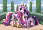 crown cutie_mark duo equine female feral friendship_is_magic hair horn john_joseco mammal multicolored_hair my_little_pony princess_cadance_(mlp) smile twilight_sparkle_(mlp) unicorn winged_unicorn wings  Rating: Safe Score: 8 User: slyroon Date: July 05, 2013