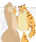 anthro blush canine duo feline maguro male male/male mammal nude penis sauna slightly_chubby tiger towel wolf  Rating: Explicit Score: 6 User: destinos Date: March 01, 2012