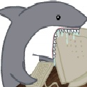 aliasing alpha_channel ambiguous_gender animated black_eyes computer fail feral fish humor low_res marine saliva shark simple_background solo teeth transparent_background unknown_artist