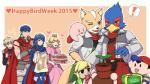 2015 <3 alien animal_crossing anthro avian belt bird black_eyes black_nose blonde_hair blue_eyes blue_hair boots brown_fur cake camera canine clothing crossover crown dress earthbound_(series) english_text falco_lombardi female fire_emblem food footwear fox fox_mccloud fur green_eyes group hair happy headband human ike jacket jewelry kirby kirby_(series) long_hair lucian male mammal mario_(series) mario_bros ness nintendo open_mouth plant princess_peach scarf shulk star_fox super_smash_bros text the_legend_of_zelda toon_link unknown_artist video_games villager white_fur xenoblade_chronicles  Rating: Safe Score: 3 User: Cαnε751 Date: July 11, 2015