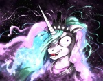2012 abstract_background crown equine female feral friendship_is_magic fur hair headshot_portrait hi_res horn insane long_hair mammal moderatelydeviant multicolored_hair my_little_pony open_mouth portrait princess_celestia_(mlp) purple_eyes simple_background smile solo sparkles tongue tongue_out unicorn white_fur  Rating: Safe Score: 4 User: mlp Date: June 27, 2013