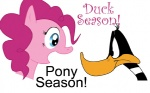 avian bird daffy_duck duck duo equine female feral friendship_is_magic fur horse looney_tunes male mammal my_little_pony pink_fur pinkie_pie_(mlp) plain_background pony unknown_artist warner_brothers white_background   Rating: Safe  Score: 5  User: Ohnine  Date: July 16, 2011
