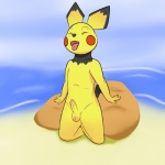 anthro anthrofied beach cub issac_lazarus kneeling male mammal mouse nintendo penis pichu pokémon rodent seaside solo tongue tongue_out uncut video_games young  Rating: Explicit Score: 0 User: Issac_Lazarus Date: November 23, 2015