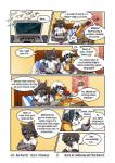 8chan akita anthro bed bedroom blue_fur brown_eyes canine clothed clothing code comic computer crossed_arms cub derek dialogue dog duo english_text eyewear fangs fur gaming glasses grey_eyes grey_fur grey_hair hair harmarist kitaness laptop male mammal milo_skunk nate_(8chan) nerd nintendo nintendo_ds nude open_mouth pants pillow playing_videogame poster raccoon reclining shirt shorts sitting skunk speech_bubble sweater text the_mysteries_of_alfred_hedgehog tight_coupling typing video_games white_fur white_hair white_shirt young  Rating: Safe Score: 6 User: Blodsho Date: September 28, 2015