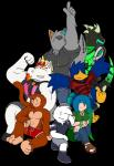 2018 absurd_res alpha_channel anthro avian beak bird boxer_briefs breasts brown_fur canine clothed clothing dave_(character) digital_media_(artwork) dragon dragon_ball equine female fur hair hat hi_res horn jack_dragon_(character) justin_(character) male mammal max_(character) monkey notkastar_(artist) notska_(character) primate psy_(character) rainbow shirt smile tank_top text underwear unicorn vertical_bar_eyes wolf zatch_(character)Rating: SafeScore: 0User: NotkastarDate: February 14, 2018