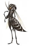 abdomen ambiguous_gender antennae anthro arthropod compound_eyes crossed_arms daisuke hi_res insect insect_wings looking_at_viewer markings mosquito multi_limb simple_background solo standing white_background white_markings wingsRating: SafeScore: 13User: GenjarDate: August 17, 2013