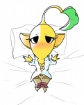 blush bra cleavage clothed clothing female flora_fauna looking_at_viewer mouthless not_furry open_arms pikmin plant pussy solo underwear yellow_pikmin  Rating: Explicit Score: 2 User: Juni221 Date: July 31, 2015