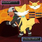 absurd_res all_fours canine cum doggystyle english_text female fennekin feral feral_on_feral from_behind_position gau_(artist) hi_res houndour male male/female mammal nintendo orgasm pokémon pokémon_mystery_dungeon sex text video_gamesRating: ExplicitScore: 9User: GauDate: September 06, 2017