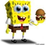 "2011 3d anthro blue_eyes krabby_patty lestaret necktie open_mouth solo sponge spongebob_squarepants spongebob_squarepants_(character) teeth tongue  Rating: Safe Score: -1 User: YLYL Date: June 14, 2015"""