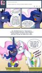 2014 comic cute english_text equine eyewear female feral friendship_is_magic glasses horn horse john_joseco mammal my_little_pony princess_celestia_(mlp) princess_luna_(mlp) text winged_unicorn wings  Rating: Safe Score: 16 User: Robinebra Date: January 13, 2015