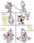 angry animatronic anthro avian bib bird butt canid canine chica_(fnaf) chicken crisis-omega dialogue duo english_text exposed_endoskeleton eye_patch eyewear female five_nights_at_freddy's fox foxy_(fnaf) galliform gallus_(genus) hook hook_hand humor lol_comments machine male mammal meme parody phasianid pirate robot text that's_kind_of_hot video_gamesRating: SafeScore: 32User: chdgsDate: August 29, 2014