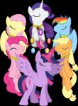 absurd_res alpha_channel applejack_(mlp) cute cutie_mark earth_pony equine female feral fluttershy_(mlp) friendship_is_magic group hi_res horn horse mammal my_little_pony pegasus pinkie_pie_(mlp) pony rainbow_dash_(mlp) rarity_(mlp) theshadowstone twilight_sparkle_(mlp) unicorn winged_unicorn wings  Rating: Safe Score: 7 User: Robinebra Date: January 27, 2014