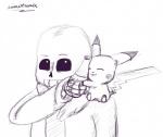 animextremex bone bottle duo eyes_closed happy monster nintendo pikachu pokémon sans_(undertale) sitting skeleton smile undertale video_games white_eyes  Rating: Safe Score: -2 User: AnimeXtremex Date: November 23, 2015