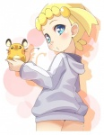blonde_hair blue_eyes blush bonnie clothing cute dedenne eyelashes hair hamster hoodie loli looking_at_viewer mammal nintendo pokémon rodent short_hair sweatshirt video_games youki young  Rating: Safe Score: 1 User: DeltaFlame Date: October 10, 2015