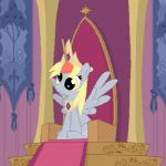 2013 animated blink blinking crown cute cutie_mark derp_eyes derpy_hooves_(mlp) equine female feral friendship_is_magic gold_(metal) mammal my_little_pony necklace pegasus plunger sitting solo throne tomdantherock wings yellow_eyes  Rating: Safe Score: 28 User: 2DUK Date: September 28, 2013