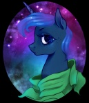 arakay equine female feral freckles friendship_is_magic hair horn horse looking_at_viewer my_little_pony pony portrait princess_luna_(mlp) royalty solo stars winged_unicorn wings   Rating: Safe  Score: 8  User: Somepony  Date: May 27, 2013
