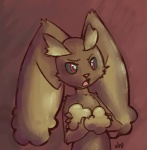 crossed_arms female lagomorph lopunny nintendo nude pink_nose plain_background pokémon red_eyes shugowah solo video_games   Rating: Safe  Score: 9  User: Lulzbot  Date: December 04, 2011